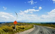Lake Mahinerangi Wind Farm, Otago, New Zealand.