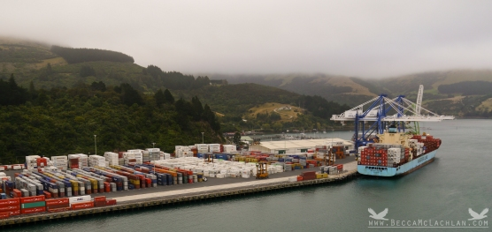 Port Chalmers, Dunedin, New Zealand. (Port Otago Ltd)