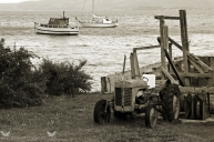 Tractor and Boats, Careys Bay, Port Chalmers, Dunedin, New Zealand.