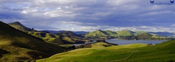 View from Sandymount, Otago Peninsula, New Zealand.
