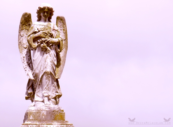 Angel Tombstone at Port Chalmers (new) Cemetery.