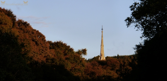 Steeple of Dunedin's Northern Cemetery's Larnach's Tomb, Lovelock Avenue, Dunedin, New Zealand.